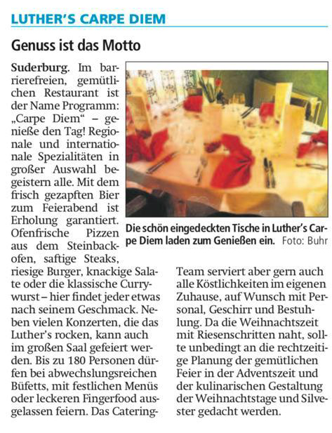 Luthers Carpe Diem - Restaurant in Suderburg